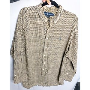 Ralph Lauren checkered button down Blake xl